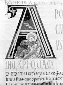 Bibel — Historisierte Initiale A: Johannes, Folio 254recto