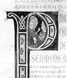 Bibel — Historisierte Initiale P: Apostel, Folio 250recto