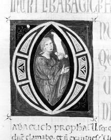 Bibel — Historisierte Initiale O: Prophet, Folio 248verso