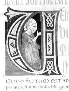 Bibel — Historisierte Initiale V (?): Paulus, Folio 246recto