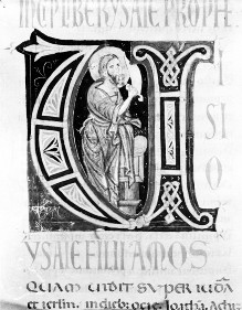 Bibel — Historisierte Initiale U: Jesaia, Folio 50verso