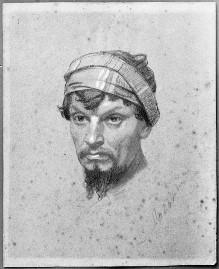 Kopfstudie eines Mannes mit Turban