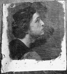 Kopfstudie eines jungen Mannes mit Mütze