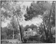 Landschaft mit Villa