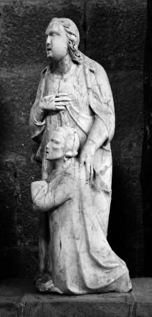 Thronende Madonna mit Engeln und Stiftern — Engel mit Stifter