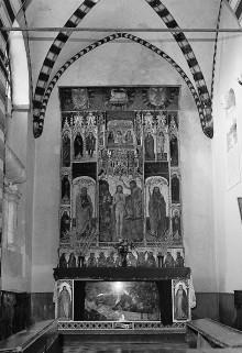Polyptychon mit Taufe Christi, Schmerzensmann und Heiligen