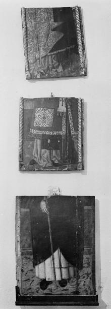 Drei Fragmente: Untere Partien von Heiligentafeln