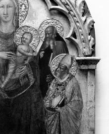 Madonna mit den Heiligen Laurentius, Johannes der Täufer, Antonius Abbas und Nikolaus