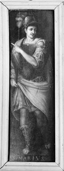 Zwei Tafeln mit Heiligen von einem Altar(?) — Heiliger Marius oder Mauritius