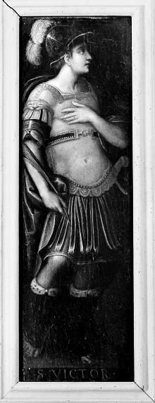 Zwei Tafeln mit Heiligen von einem Altar(?) — Heiliger Viktor