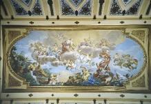 Cosimo il Vecchio de' Medici als Pater Patriae, wird von Florenz Jupiter empfohlen