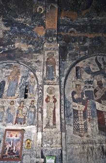 Die Ausmalung der Saalkirche — Die Heilige Katharina und die Heilige Irene (?)