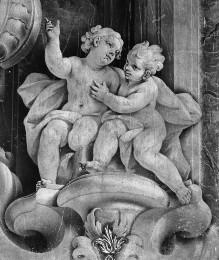 Die Figuren der Freskendekoration mit Szenen aus dem Leben des Heiligen Nikolaus