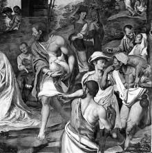 Das malerische Programm des Presbyteriums — Sacra Conversazione und Szenen aus dem Leben Christi — Die Anbetung der Hirten