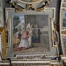 Szenen aus dem Leben des Heiligen Karl Borromäus — Der Heilige Karl Borromäus mit einem Engel