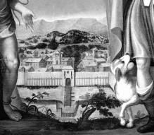 Der Heilige Rochus und der Heilige Sebastian empfehlen Gott die Stadt Villanova d'Asti (?)
