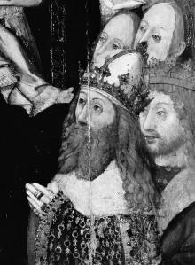 Die Madonna mit Kind als Schutzpatronin, von Engeln umgeben