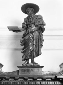 Die Ausstattung der Ersten Sakristei — Sakristeischrank — Der Heilige Hieronymus