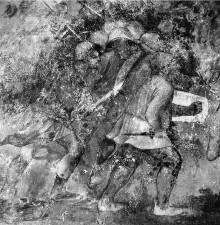 Scipio Africanus Major und Schlachtenszenen der Kriege um Troja und um Laurentium — Schlachtenszene