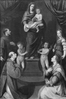 Madonna mit dem Kind und Heiligen