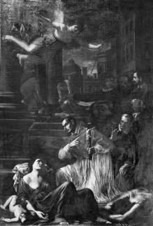 Der Heilige Karl Borromäus besucht die Pestkranken