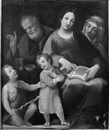 Die Heilige Familie mit der Heiligen Katherina von Siena und dem Johannesknaben