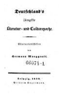 Image from object titled Deutschland's jüngste Literatur- und Culturepoche. Charakteristiken.