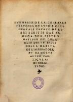 Image from object titled Libro primo della historia de l'Indie occidentali. (Libro secondo delle Indie occidentali. - Libro ultimo del summario delle Indie occidentali.)