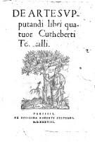 Image from object titled De Arte Svpputandi libri quatuor