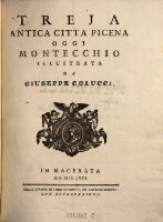 Image from object titled Treja, antica citta Picena, oggi Montecchio, illustrata