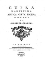 Image from object titled Cupra Marittima Antica Citta Picena Illustrata