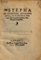 Image from object titled Ad Martinum Bucerum de impudenti ejusdem pseudologia conquestio