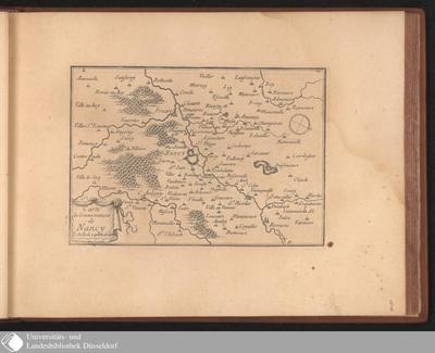 Image from object titled Carte du Gouvernement de Nancy / [Par le Sieur De Beaulieu]