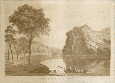 [Aquatint of 'Fenner Rock on the River Boyne' / by Jonathan Fisher.]