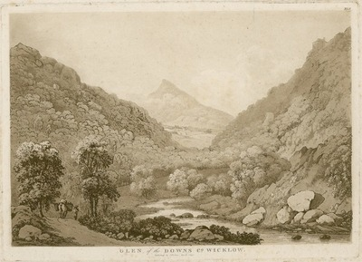 [Aquatint of the 'Glen of the Downs, Co. Wicklow' / by Jonathan Fisher.]