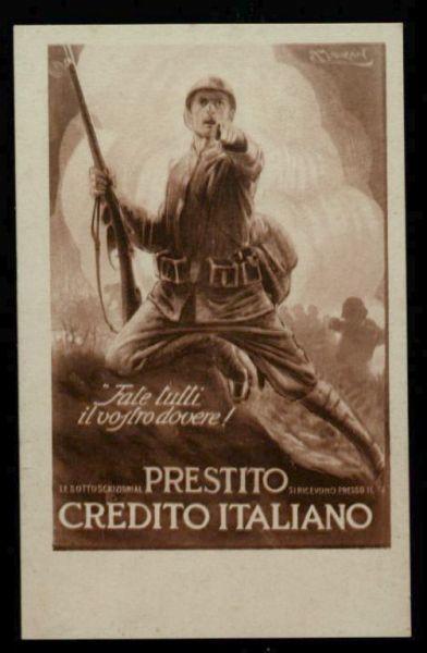 Fate tutti il vostro dovere!  : le sottoscrizioni al prestito si ricevono presso il Credito italiano  / A. Mauzan