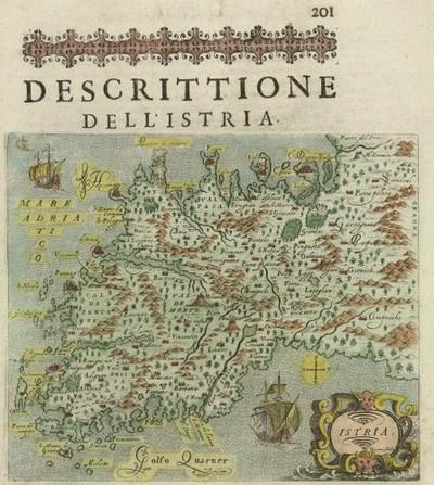 Descrittione dell' Istria / Tomaso Porcacchi da Castiglione Aretino ; Girolamo Porro.