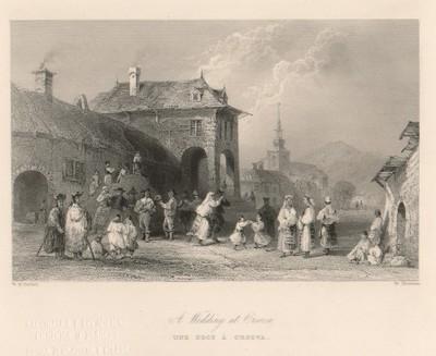 A Wedding at Orsova / W. Mossman ; W. H. Bartlett.