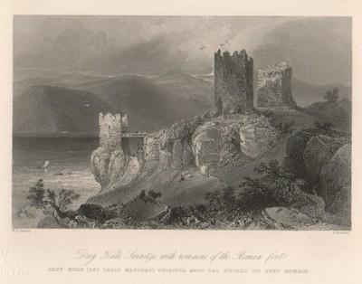 Drey Kule, Swinitza with remains of the Roman Fort / E. Brandard ; W. H. Bartlett.