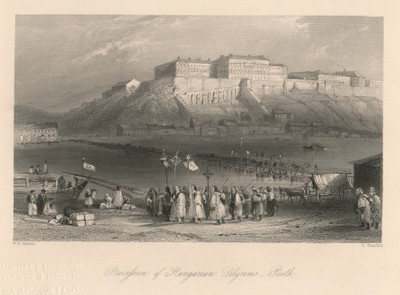 Procession of Hungarian Pilgrims - Pesth / E. Brandard ; W. H. Bartlett.