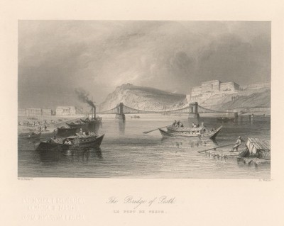The Bridge of Pesth / R. Wallis ; W. H. Bartlett.