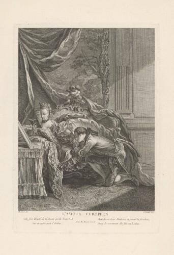 L'amour européen / F. [Pierre-François] Basan ; [prema djelu Charlesa Dominiquea Eisena].