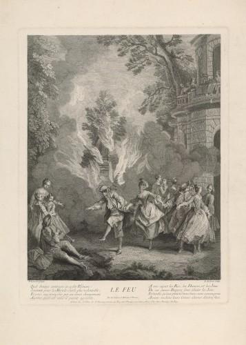 Le Feu / B. [Benoit] Audran ; [prema crtežu Nicolasa Lancreta].