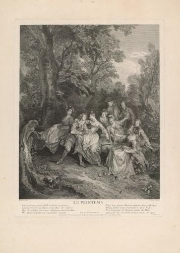 Le Printems / B. [Benoit] Audran ; [prema crtežu Nicolasa Lancreta].