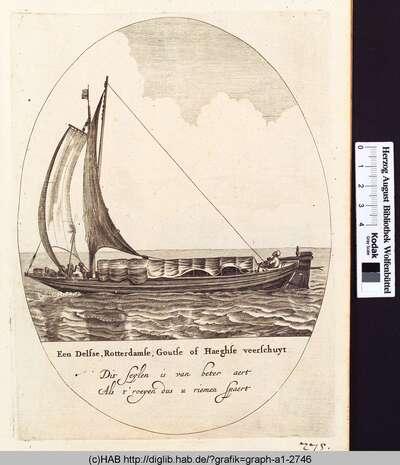 Een Delfse, Rotterdamse, Goutse of Haeghse veerschuyt.