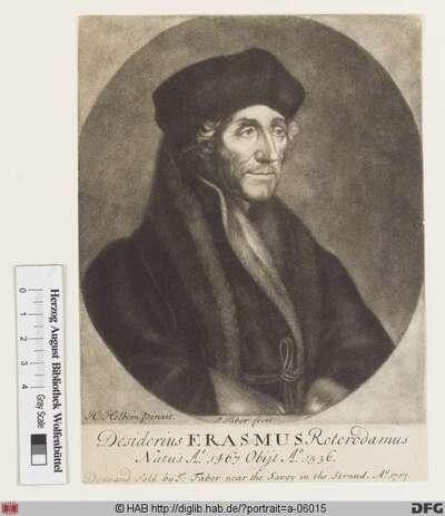 Bildnis Desiderius Erasmus, gen. Erasmus von Rotterdam