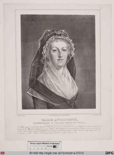 Bildnis Marie Antoinette, Königin von Frankreich, geb. Erzherzogin von Österreich