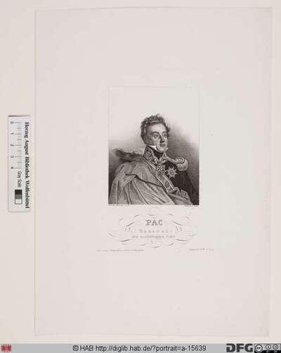 Bildnis Ludvik Michał Graf (frz. Louis-Michel comte de) Pac