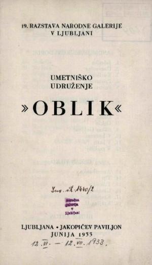 Image from object titled Umetniško udruženje Oblik