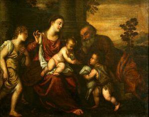 Sveta Obitelj sa svetim Ivanom i anđelom